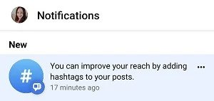 facebook hashtag suggestions in posts